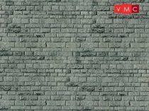 Vollmer 6052 Dekorlap: Falazott kőfal - Porphyr, karton (H0)