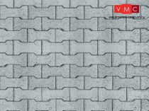 Vollmer 6054 Dekorlap: Térkő (viacolor), karton (H0)