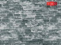 Vollmer 6055 Dekorlap: Kőfal-gránit, karton (H0)