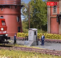 Vollmer 6509 Vonali pályatelefon bódé, lépcsős alapzaton (H0)