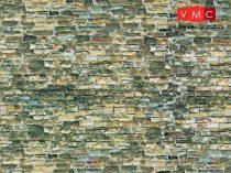 Vollmer 7362 Dekorlap: Falazott kőfal, karton (N)
