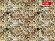 Vollmer 7363 Dekorlap: Homokkőfal, karton (N)