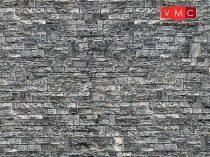 Vollmer 7367 Dekorlap: Falazott kőfal, karton (N)