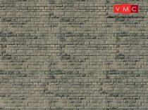Vollmer 7368 Dekorlap: Falazott kőfal, karton (N)