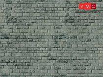 Vollmer 7369 Dekorlap: Falazott kőfal - Porphyr, karton (N)