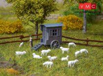 Vollmer 7717 Kerekes juhászbódé juhokkal és kerítéssel (N)
