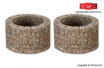 Vollmer 48760 Kútkáva, kőböl kirakva, kerek, 2 db (0)