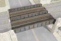 Walthers 32948 Acélgerendás vasúti híd, egy/vagy kétvágányos (H0)