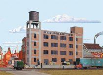 Walthers 33178 Amerikai textilgyár, River City Textiles, felezett épület (H0)