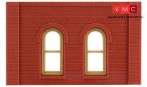 Woodland Scenics DPM30112 Single Storey Arched Window Wall (x4)