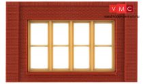 Woodland Scenics DPM30147 Single Storey Victorian Window Wall (x4)