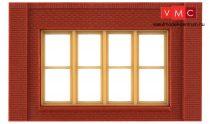 Woodland Scenics DPM30147 Single Storey Victorian Window Wall (x4)