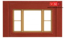 Woodland Scenics DPM30167 Single Storey 20th Century Window Wall (x4)