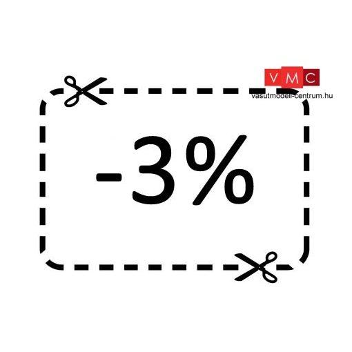 3% hűségpont kedvezmény