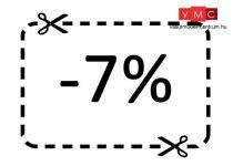 7% hűségpont kedvezmény